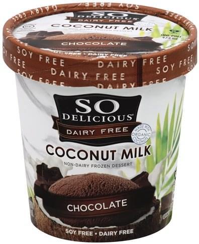 So Delicious Non-Dairy, Coconut Milk, Chocolate Frozen Dessert - 1 pt
