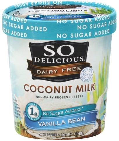 So Delicious Coconut Milk, Vanilla Bean Non-Dairy Frozen Dessert - 1 pt