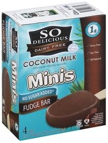 So Delicious Non-Dairy Frozen Dessert Bars, Minis, Coconut Milk, Fudge Bar