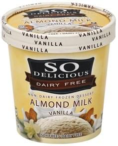So Delicious Non-Dairy Frozen Dessert Almond Milk, Vanilla