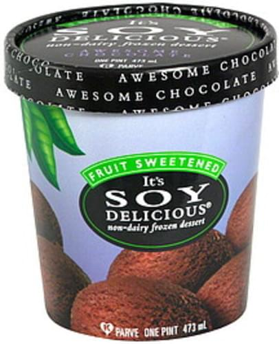 Soy Delicious Awesome Chocolate Non-Dairy Frozen Dessert - 1 pt