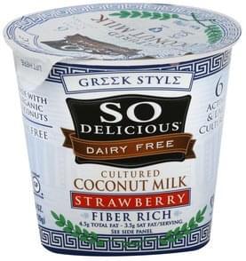 So Delicious Coconut Milk Cultured, Greek Style, Strawberry