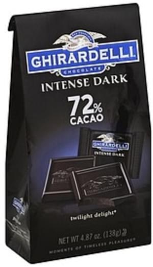 Ghirardelli Twilight Delight, 72% Cacao Dark Chocolate - 4.87 oz