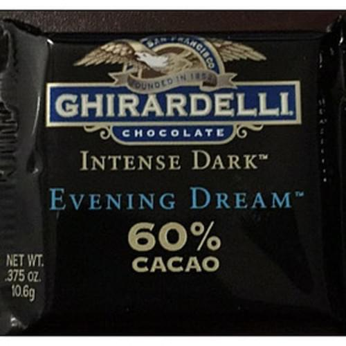 Ghirardelli All Natural Intense Dark Squares - 11 g