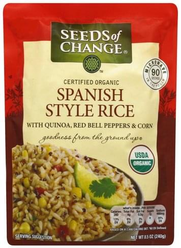 Seeds Of Change Certified Organic, Spanish Style Rice - 8.5 oz