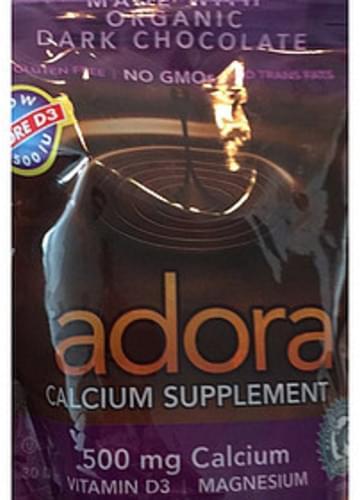 Adora Calcium Supplement made with Organic Dark Chocolate - 7 g