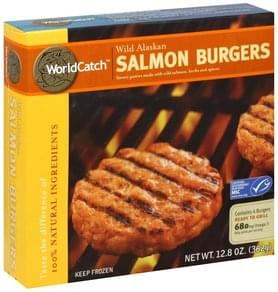 World Catch Salmon Burgers Wild Alaskan
