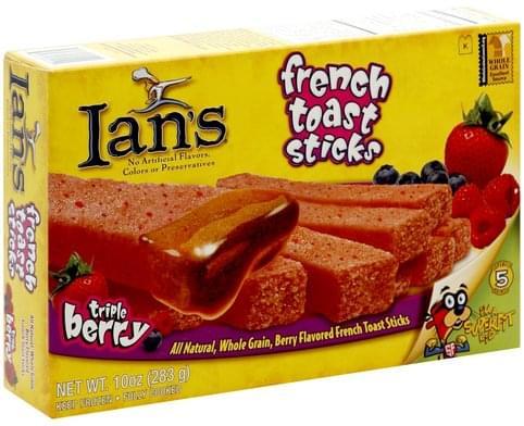 Ians Triple Berry French Toast Sticks - 10 oz