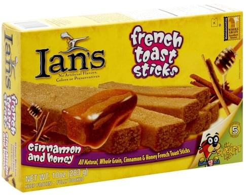 Ians Cinnamon and Honey French Toast Sticks - 10 oz