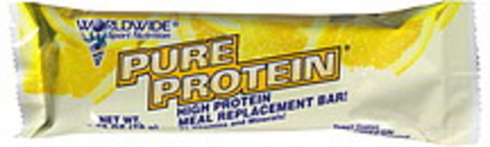 Worldwide Sport Nutrition Yogurt Coated Lemon Chiffon High Protein Meal Replacement Bar - 2.75 oz