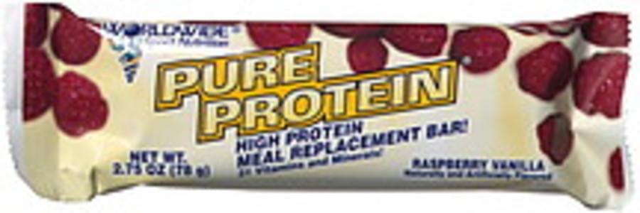 Worldwide Sport Nutrition High Protein Meal Replacement Bar Raspberry Vanilla