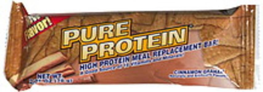 Worldwide Sport Nutrition High Protein Meal Replacement Bar Cinnamon Graham