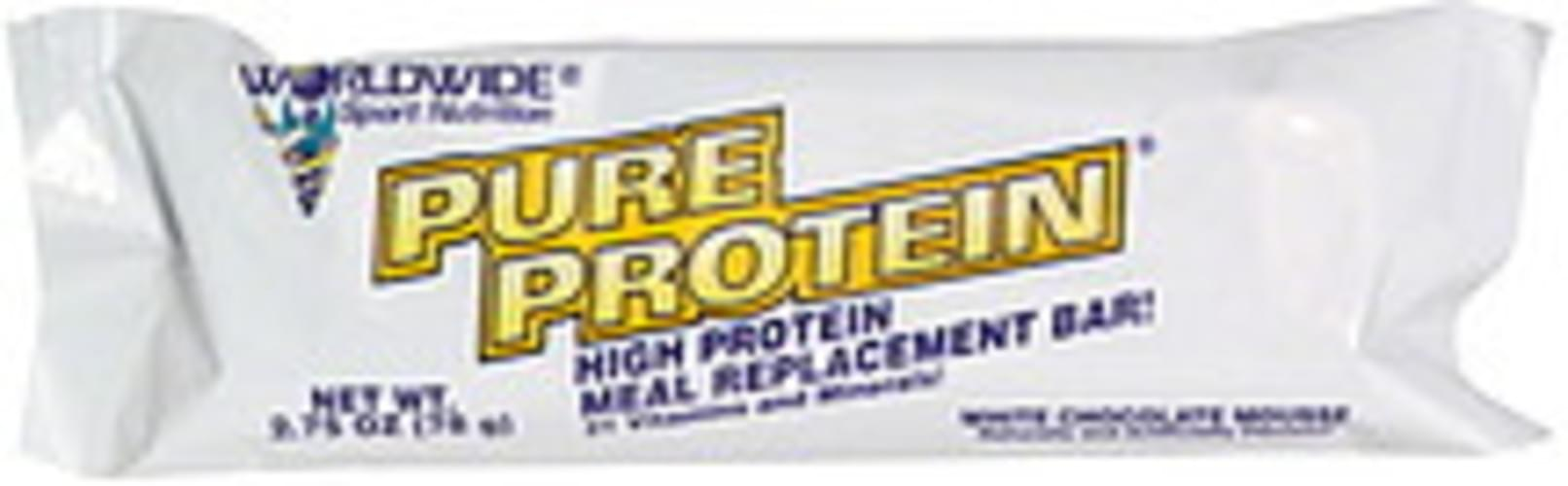 Worldwide Sport Nutrition White Chocolate Mousse High Protein Meal Replacement Bar - 2.75 oz