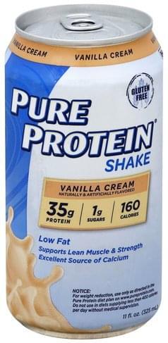 Pure Protein Vanilla Cream Shake - 11 oz