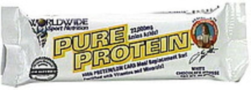 Worldwide Sport Nutrition High Protein/Low Carb Meal Replacement Bar White Chocolate Mouse