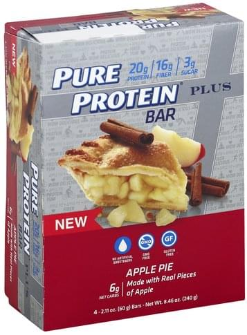 Pure Protein Plus, Apple Pie Protein Bar - 4 ea