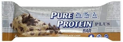 Pure Protein Plus, Chocolate Chip Cookie Dough Protein Bar - 2.11 oz