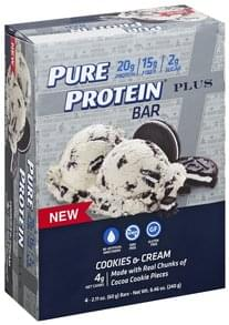 Pure Protein Protein Bar Plus, Cookies & Cream
