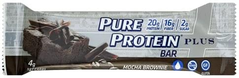 Pure Protein Plus, Mocha Brownie Protein Bar - 2.11 oz