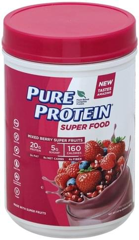 Pure Protein Mixed Berry Super Fruits Protein Powder - 23.45 oz