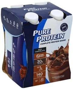 Pure Protein Protein Shake Complete, Rich Chocolate