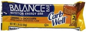 Balance Nutrition Energy Bar Caramel 'N Chocolate