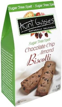 Aunt Gussies Biscotti Chocolate Chip Almond