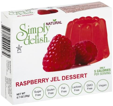 Simply Delish Raspberry Jel Dessert - 0.7 oz