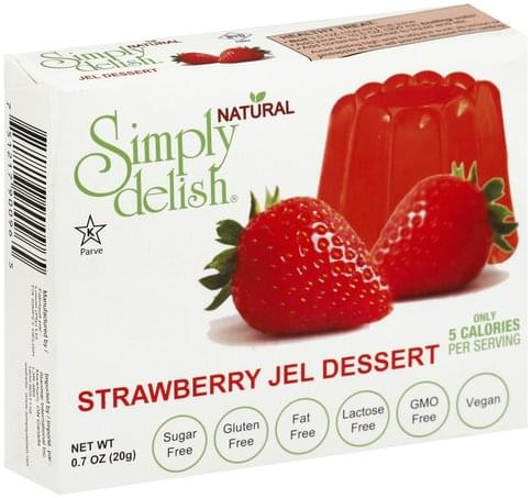 Simply Delish Strawberry Jel Dessert - 0.7 oz