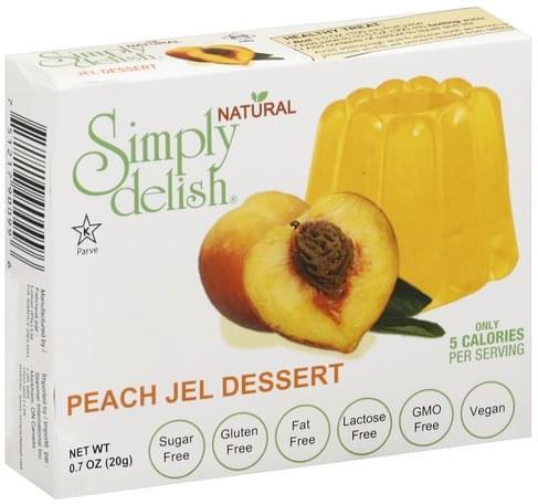Simply Delish Peach Jel Dessert - 0.7 oz