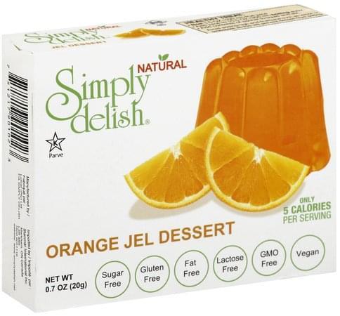 Simply Delish Orange Jel Dessert - 0.7 oz