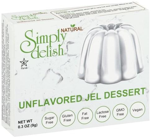 Simply Delish Unflavored Jel Dessert - 0.3 oz