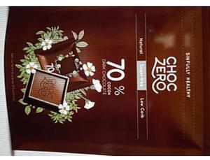 Choc Zero 70% Cocoa Dark Chocolate Sugar-Free