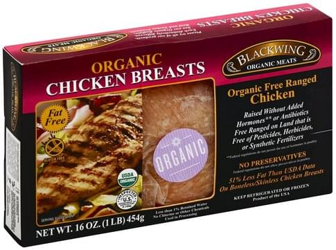 Blackwing Meats Free Ranged, Organic Chicken Breasts - 16 oz
