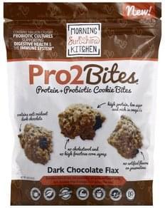 Morning Sunshine Cookie Bites Protein + Probiotic, Dark Chocolate Flax