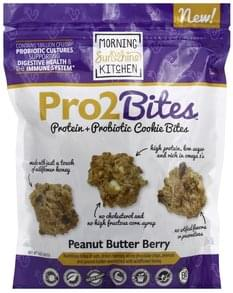 Morning Sunshine Cookie Bites Protein + Probiotic, Peanut Buttery Berry