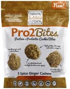 Morning Sunshine Cookie Bites Protein + Probiotic, 5 Spice Ginger Cashew