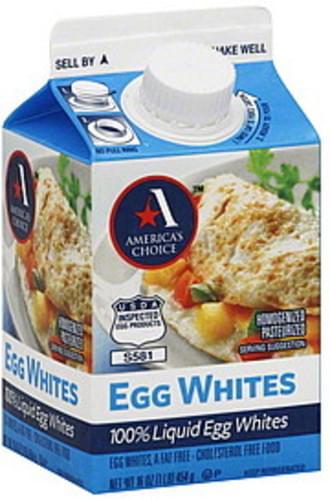 Americas Choice Egg Whites - 16 oz