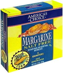 Americas Choice Margarine Salt Free with Corn Oil