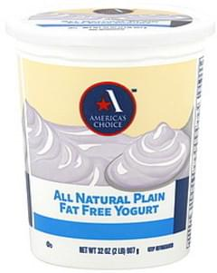 Americas Choice Yogurt Fat Free, Plain