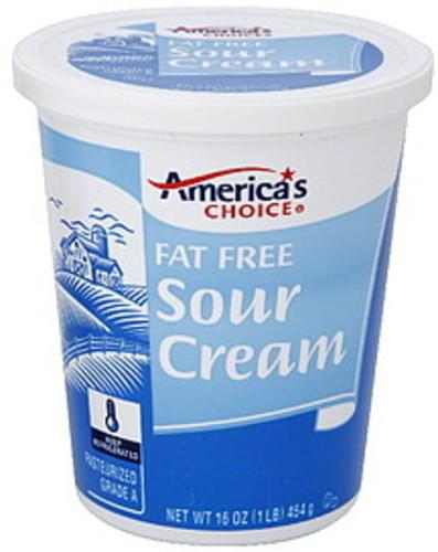 Americas Choice Fat Free Sour Cream - 16 oz