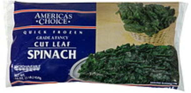 Americas Choice Spinach Cut Leaf