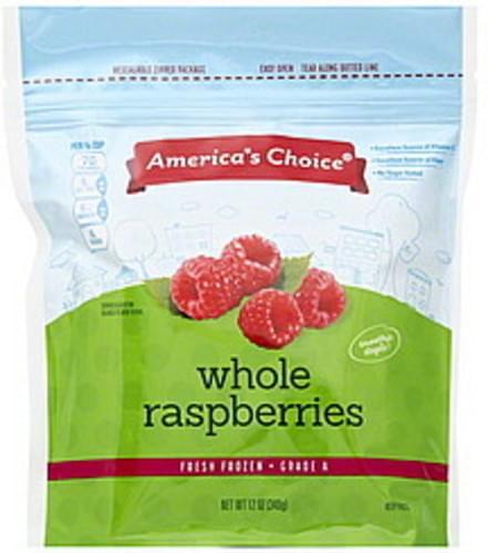Americas Choice Whole Raspberries - 12 oz