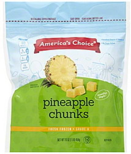 Americas Choice Pineapple Chunks - 16 oz