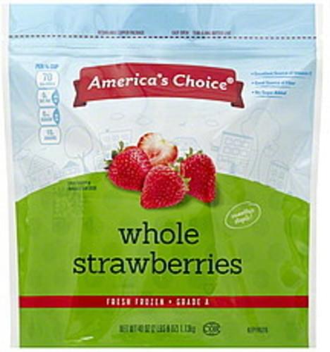 Americas Choice Whole Strawberries - 40 oz