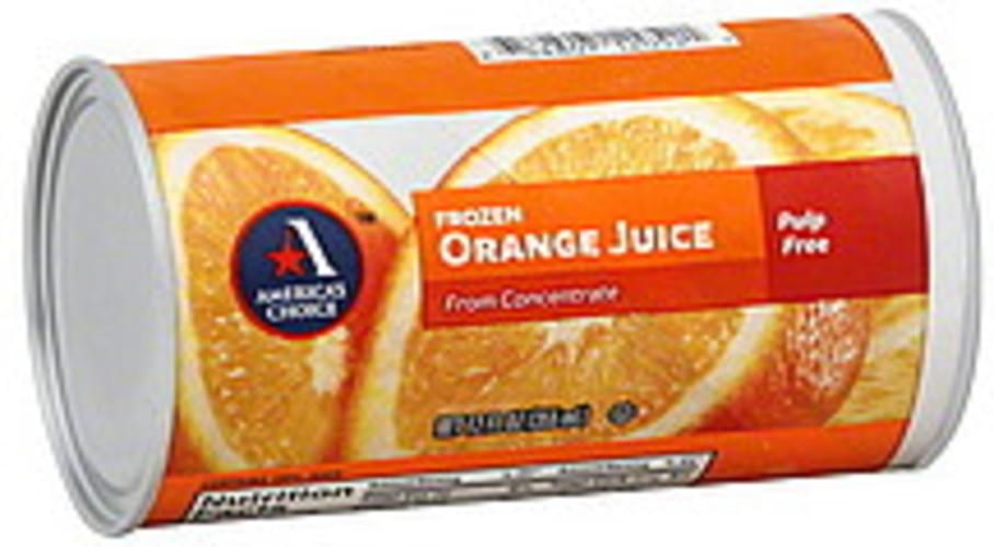 Americas Choice Orange, Frozen, From Concentrate, Pulp Free Juice - 12 oz