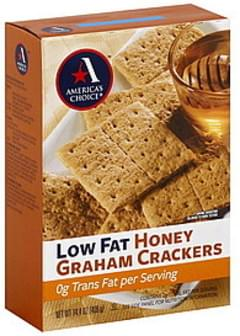 Americas Choice Graham Crackers Low Fat, Honey
