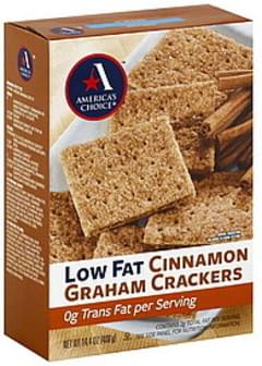 Americas Choice Graham Crackers Low Fat, Cinnamon