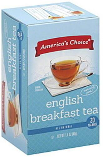 Americas Choice English Breakfast Black Tea - 20 ea