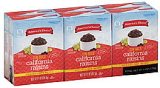 Americas Choice Raisins California, Sun Dried